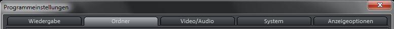 Programmeinstellungen von Video Deluxe 2013