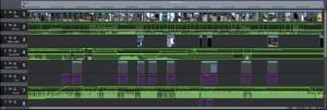 komplexe Videobearbeitung in der Timeline