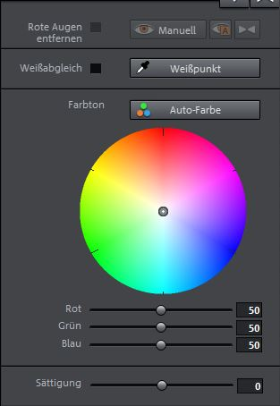 Farbeinstellungen Video Deluxe