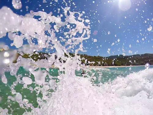 Wassertropfen in Zeitlupe