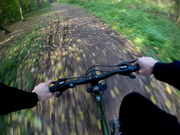 Biken mit GoPro Brustgurt