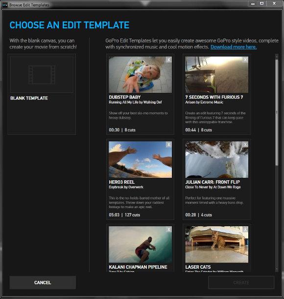 Edit Template auswählen