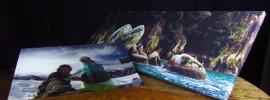 Fotoleinwand und Foto hinter Acrylglas